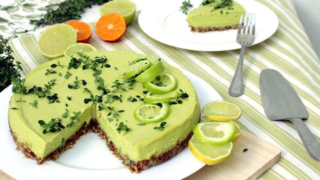 Torta de limão SEM FOGÃO   Com tomilho   Sem glúten, sem lactose, vegana e irresístivel