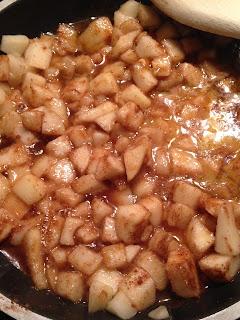 Bollos de pera , preparación 2