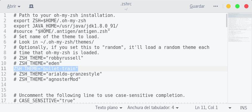 ZSH y un tema para Fedora 25