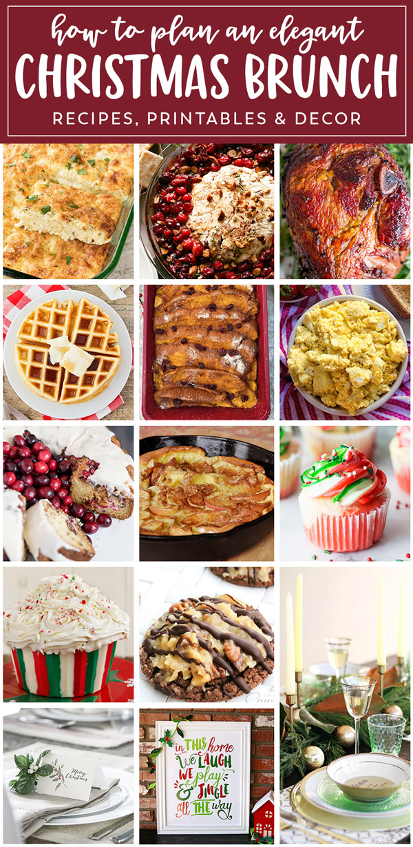This Christmas brunch meal plan has everything you need for a fantastic holiday meal, from appetizers to desserts, and printables too!
