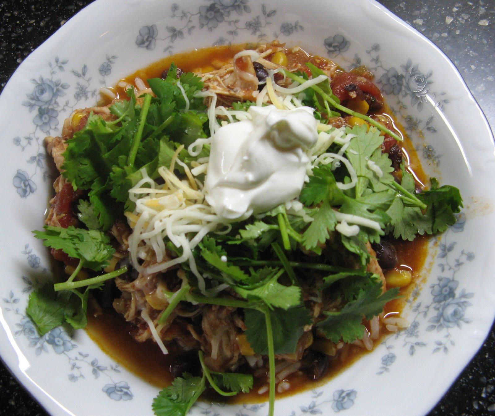 Chicken Taco Bowls Recipe: Of Cats And Cardstock: EASY Crockpot Recipe: Cowboy