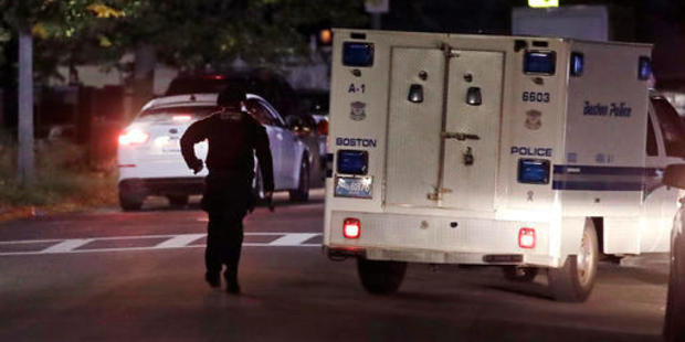 US police claim man with assault rifle, body armour shot two Boston officers