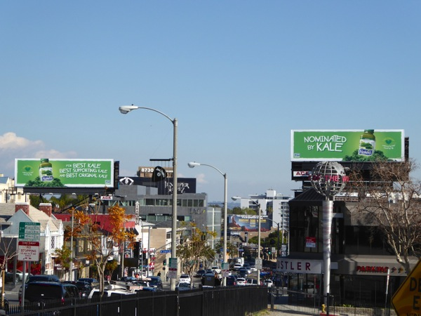 Kale Blazer Naked Juice billboards Sunset Strip