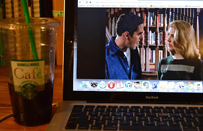 Cold brewed coffee from Barnes & Noble and Buffy Tthe Vampire Slayer reruns