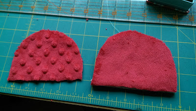 Pattern pieces for teddy bear ears