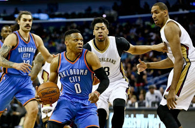NBA : Westbrook Leads Thunder into New Orleans