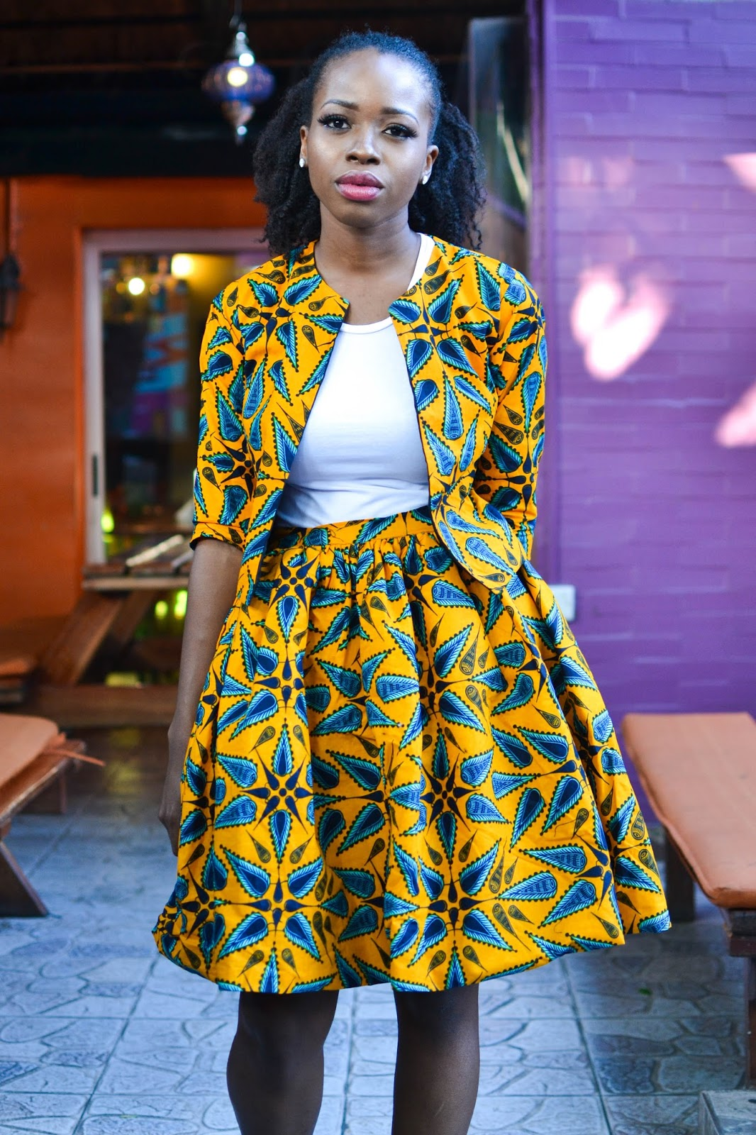 African Fashion Blogger looking fierce