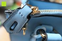 Verschluss: Veevan Damen Elegante Top-Handle Schultertasche Handtaschen (Blau)