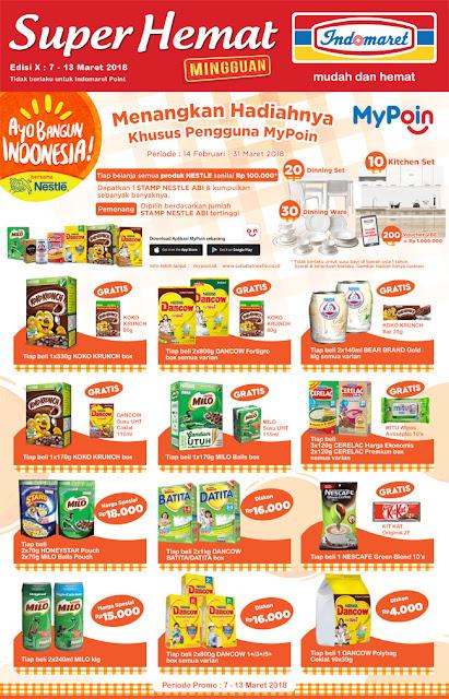 Katalog Promo INDOMARET Super Hemat Periode 07 - 13 Maret 2018