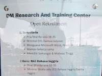 Open Recruitment Sekretaris, Guru Inggris, Ahli Medis & Public Relation