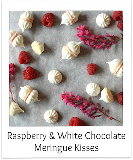 These Raspberry & White Chocolate Meringue Kisses are as delicious as they are pretty, combining a popular flavour combination which works so well accompanied with meringues.