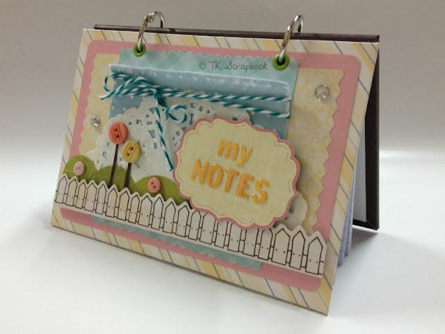 caderno com fichas em scrapbook