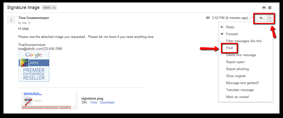how to attach email in gmail as an attachment to another