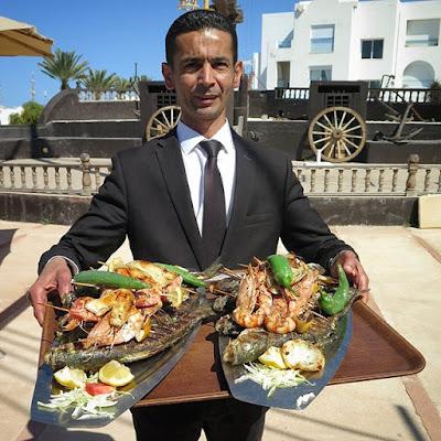 Comida de pescado en Djerba