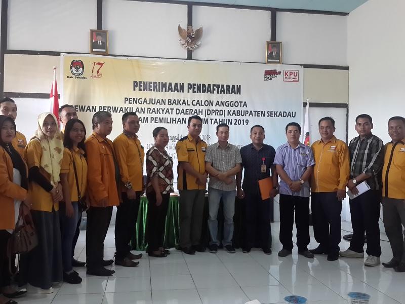 Partai Hanura Terdaftar Bacalon Legislatif Pemilu 2019 Di Sekadau