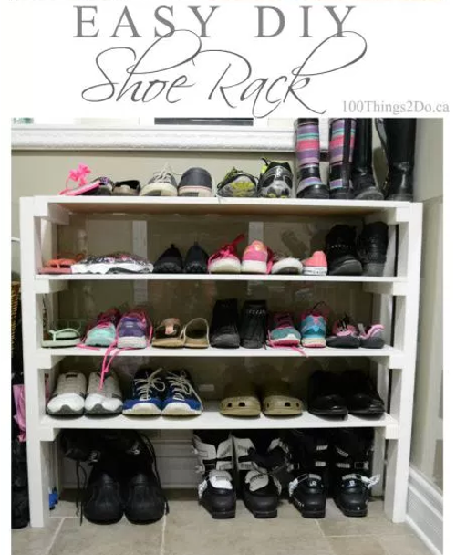 DIY Home Sweet Home 8 Genius Shoe Storage Ideas