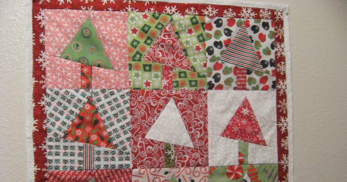 Paper Piecing Pattern: Christmas Tree Wall Hanging