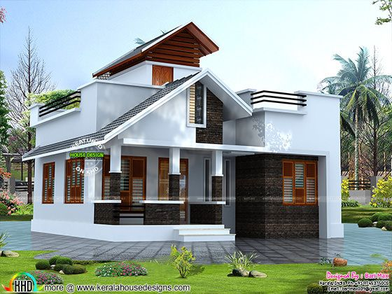 Rs 12 lakh house architecture kerala home design and - Exterior house painting cost per square foot ...
