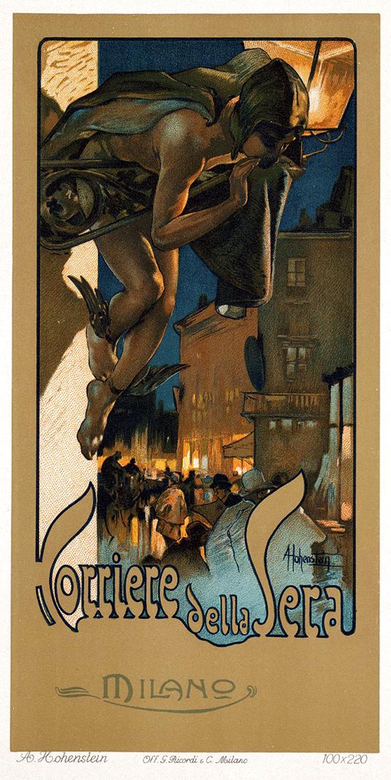 Corriere della Sera, advertising 1898