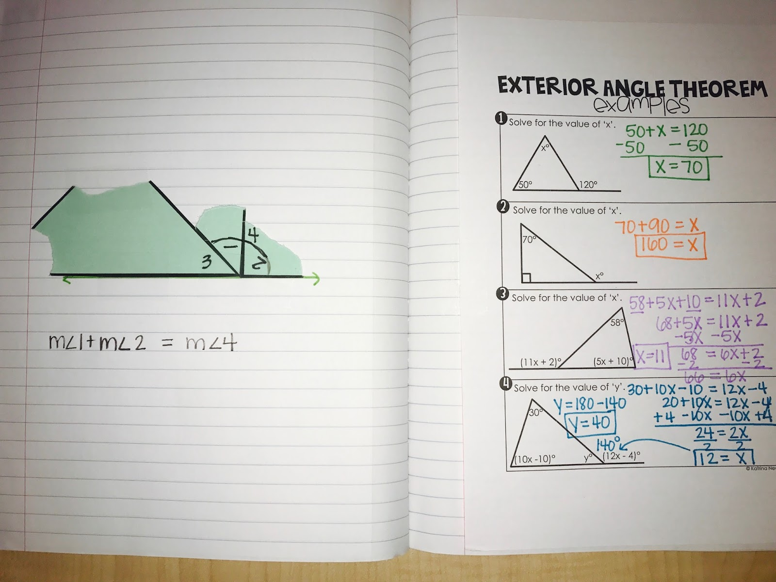 2016 2017 triangles unit mrs newell 39 s math What do exterior angles of a triangle add up to