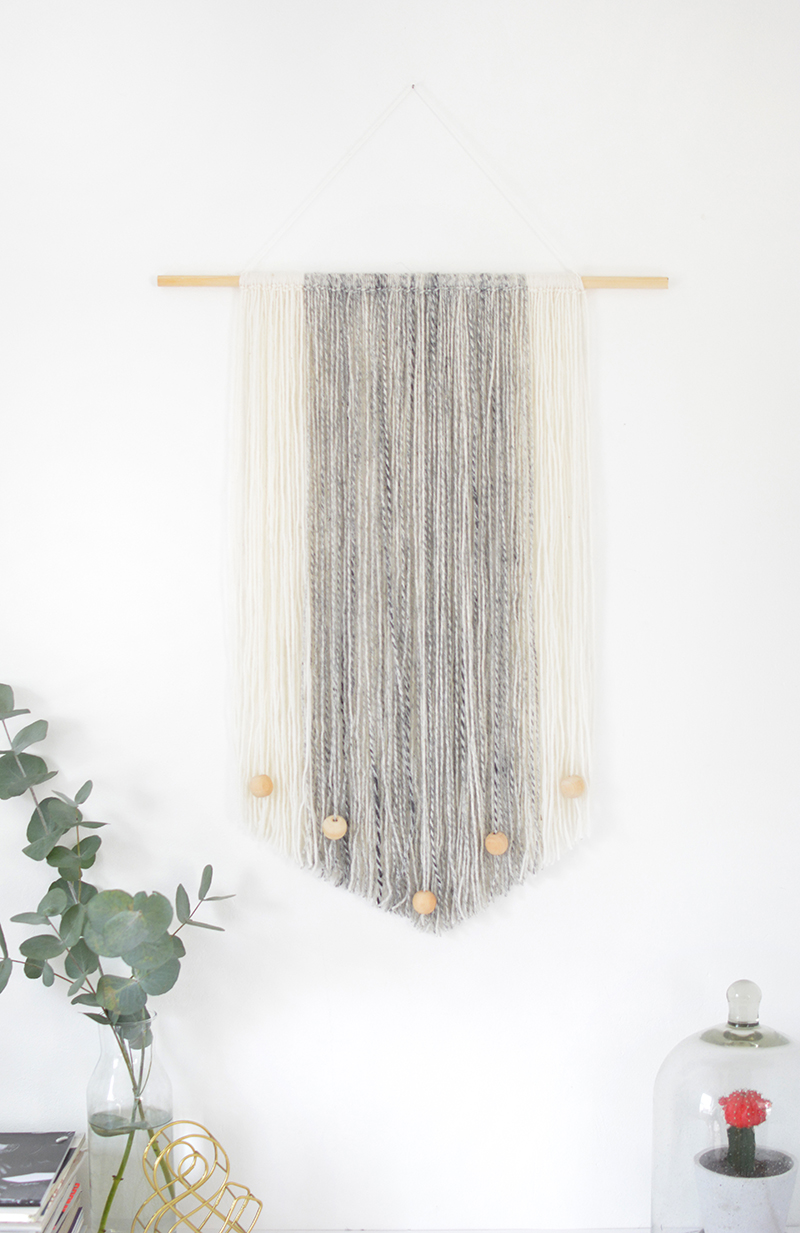 easy no weave wall hanging project