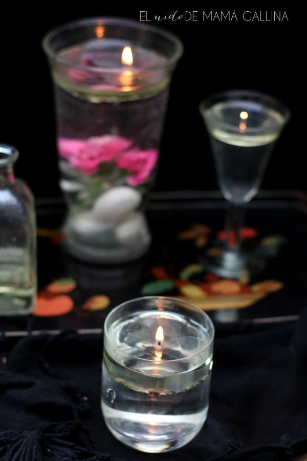 vela de aceite DIY