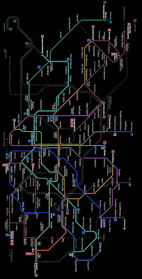 Network map of Barcelona Metro Lines