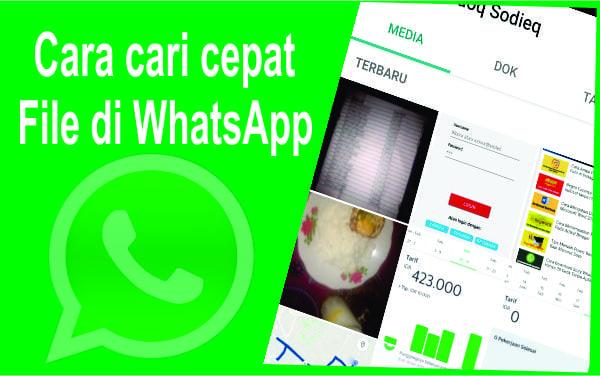 Cara Cepat Mencari Foto Video dan Gambar di Pesan WhatsApp
