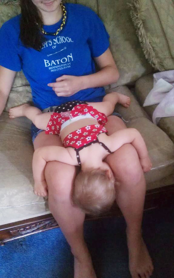 15+ Hilarious Pics That Prove Kids Can Sleep Anywhere - Napping Like A Starfish