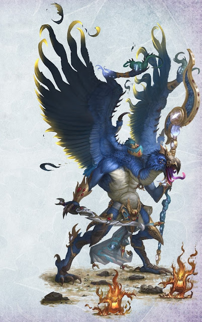 Warhammer age of sigmar artwork ilustration from battletome disciples of tzeentch lord of change