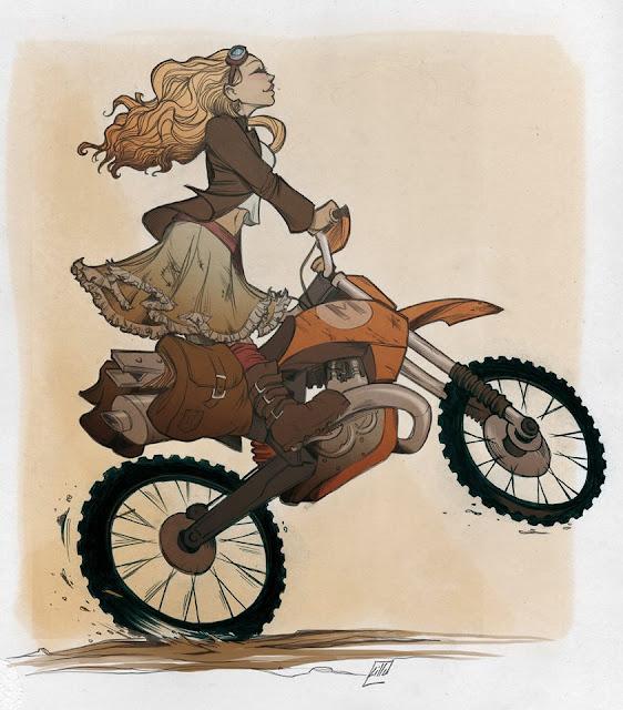 Steampunk Scrambler - Illustration by Juliane Lilu Santini