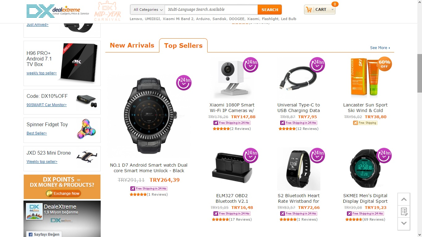En Güvenilir Çin Alışveriş Siteleri - Dealextreme
