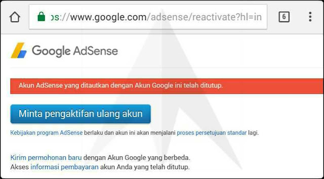 close account google adsense