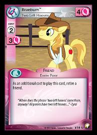 My Little Pony Braeburn, Two Left Hooves Equestrian Odysseys CCG Card
