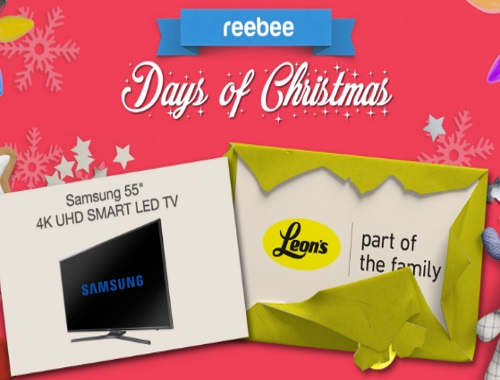 Reebee Leons Samsung Smart LED TV Giveaway