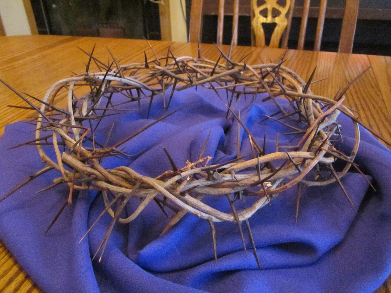 Crown of Thorns....similar to what was placed on the head of Christ Durring his passion.