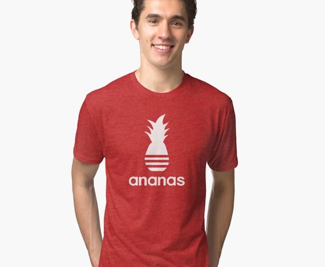 The original Ananas parody t-shirts