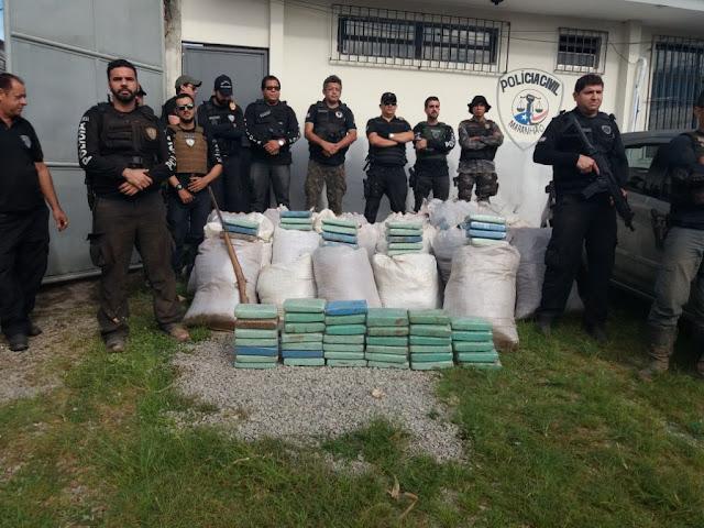 Droga avaliada em R$ 40 milhões é apreendida em Santa Inês