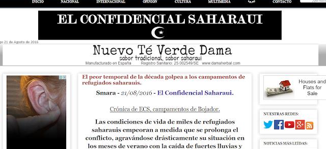 Un diario argelino acusa a El Confidencial Saharaui de practicar la propaganda gris contra la resistencia saharaui