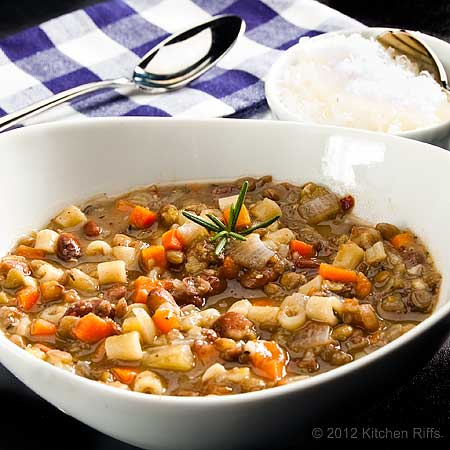 Tuscan Bean and Pasta Soup