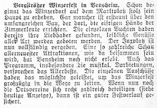 Bergsträßer Anzeiger 1929, Bergsträßer Winzerfest, Stoll-Berberich 2016