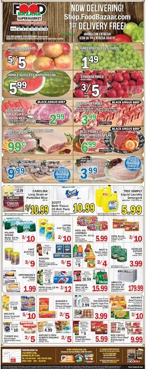 Food Bazaar Sales Circulars August 8 - 14, 2019
