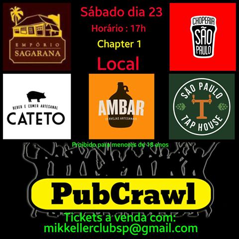 Primeiro Pub Crawl de Cervejas Artesanais