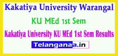 Kakatiya University MEd 1st Sem Results