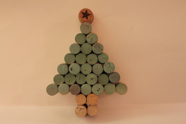 Arboles De Navidad Hechos Con Corcho Curiosas Ideas - Ideas-arboles-de-navidad