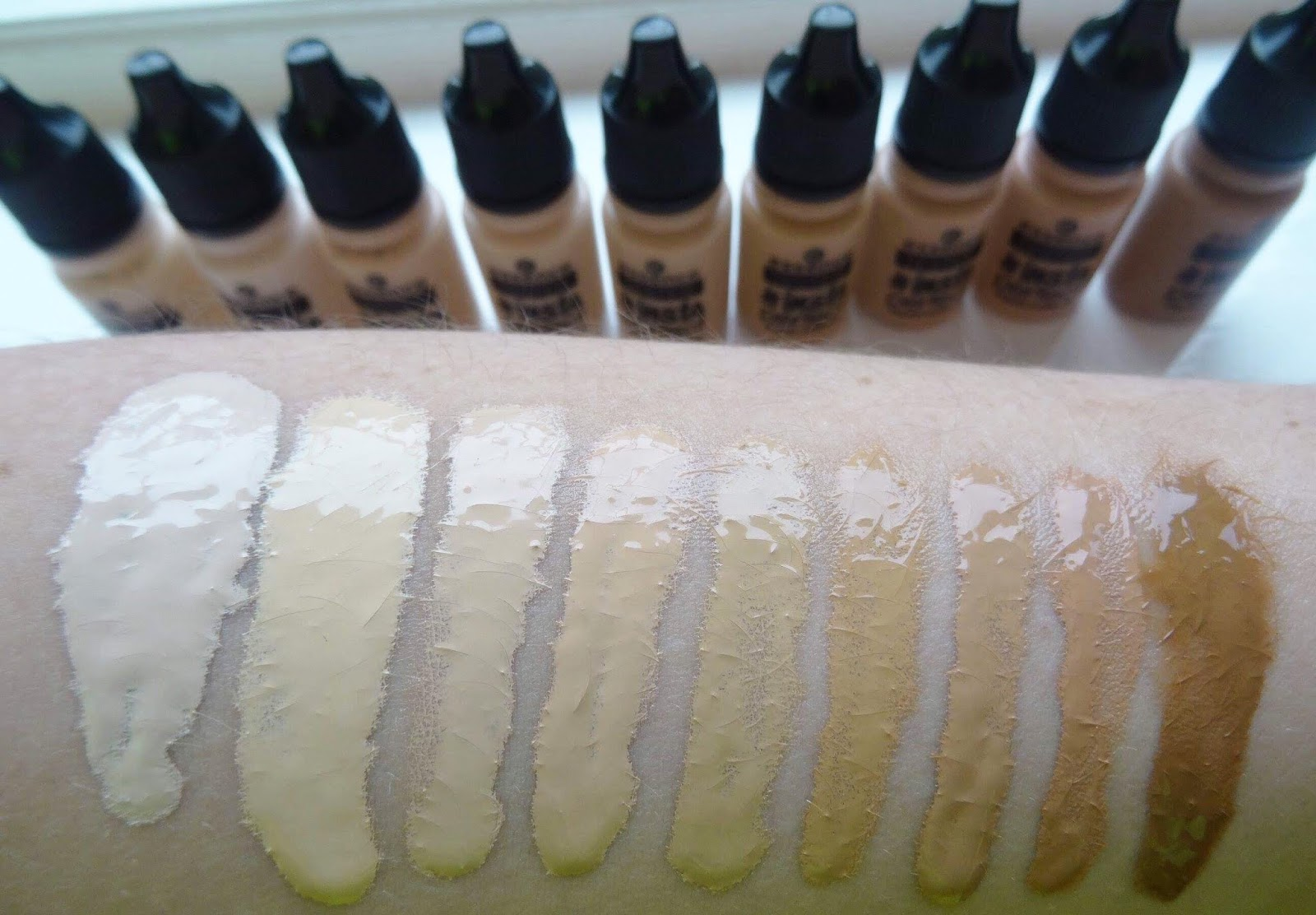 Essence #Insta Perfect Liquid Foundation Swatches