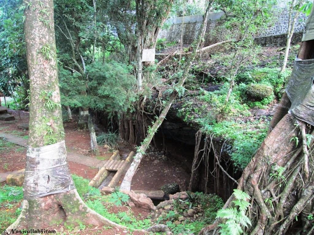 Goa Sakti yang berada diantara pepohonan