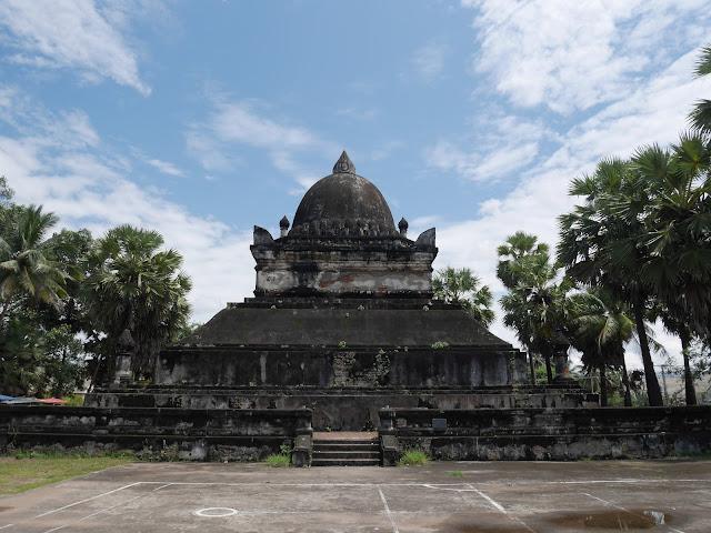 "The ""Watermelon Stupa"" at Wat Visoun, Luang Prabang, Laos"