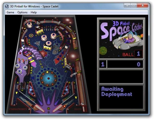 Microsoft Pinball para Windows 7 jogo PC