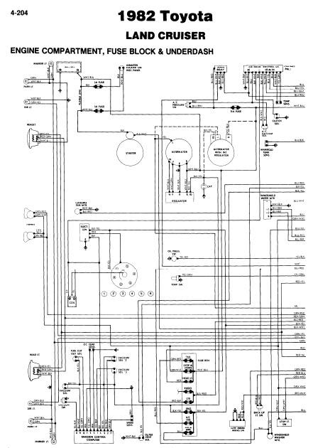 repair-manuals: Toyota Land Cruiser 1982 Wiring Diagrams